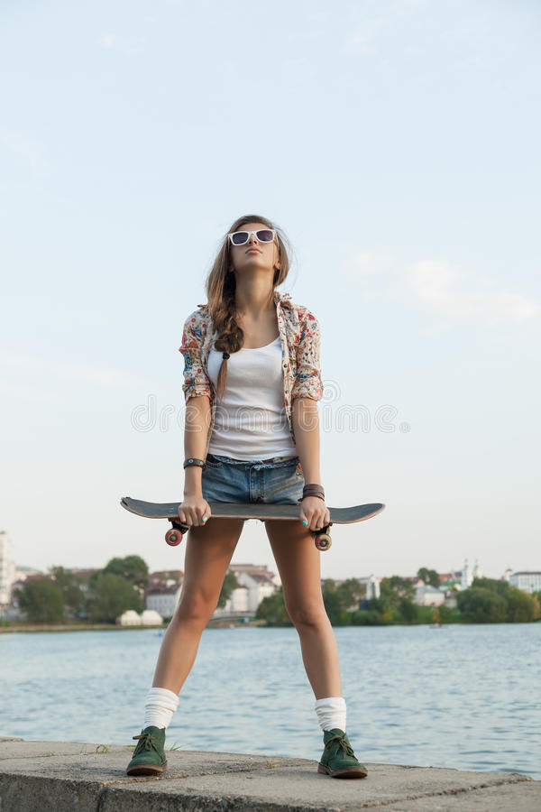 Download Woman with skateboard stock photo. Image of lifestyle - 29288354