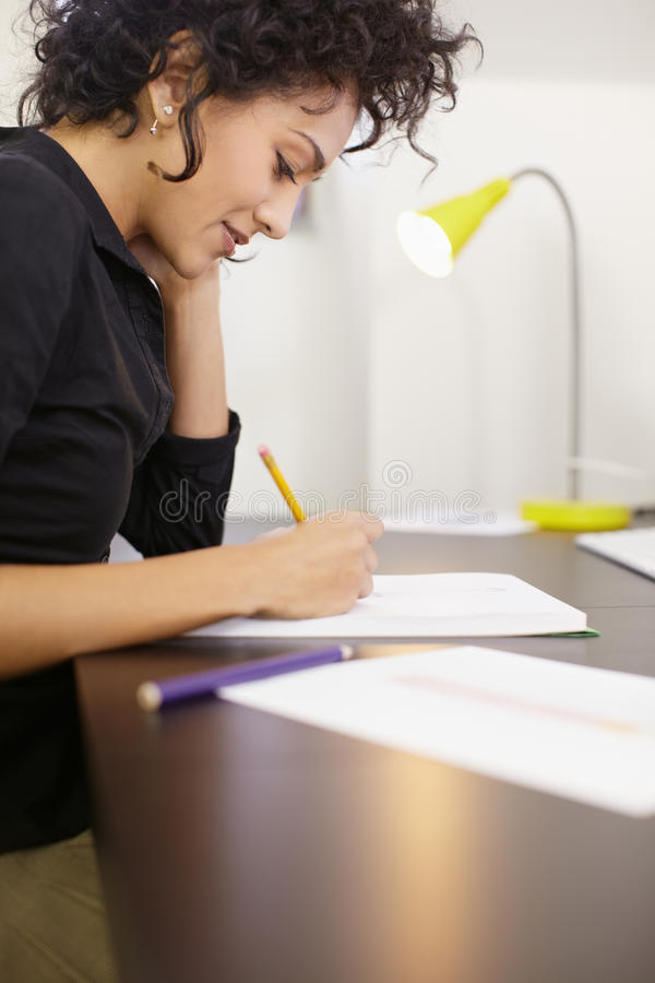 Download Woman With Sketches In Fashion Design Studio Stock Photo - Image: 18921662