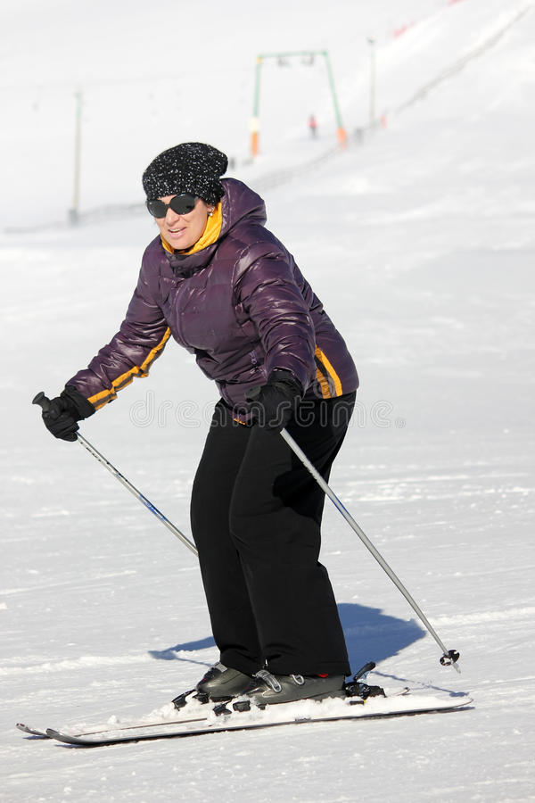 Download Woman on the ski stock photo. Image of legs, foot, cold - 23393114