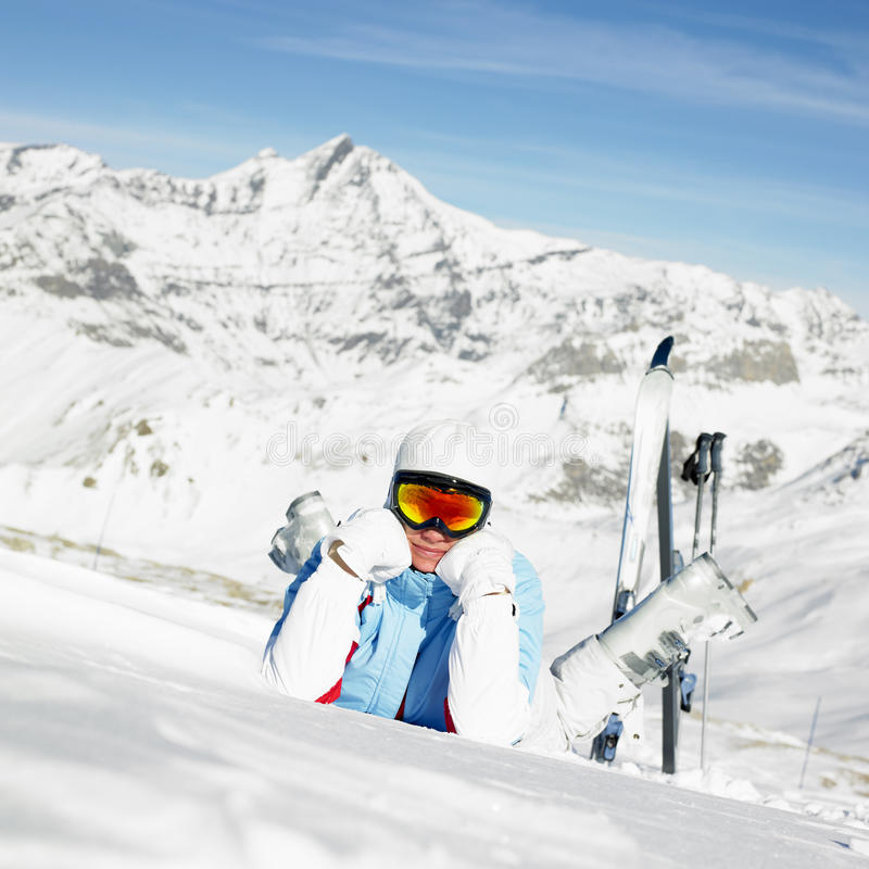 Download Woman Skier Royalty Free Stock Image - Image: 21275896