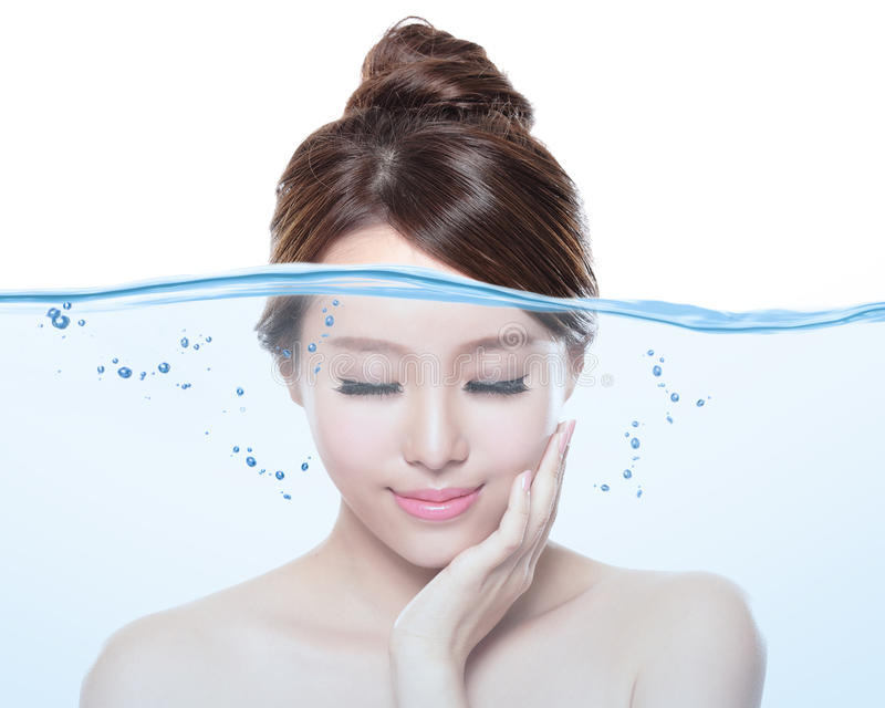 Woman skin care and moisturizer concept royalty free stock photo