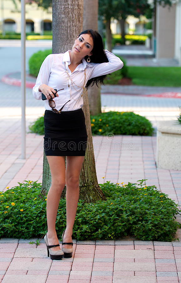 Download Woman in a skirt. stock image. Image of model, figure - 26678875