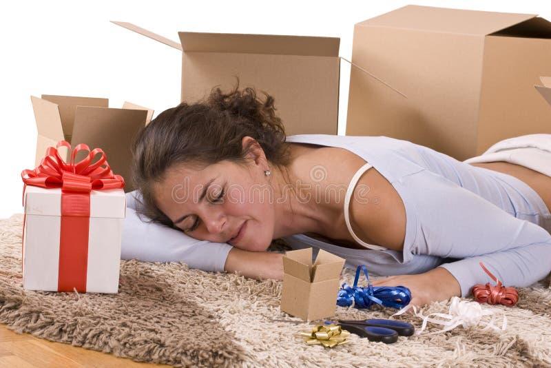 Woman sleep stock photo