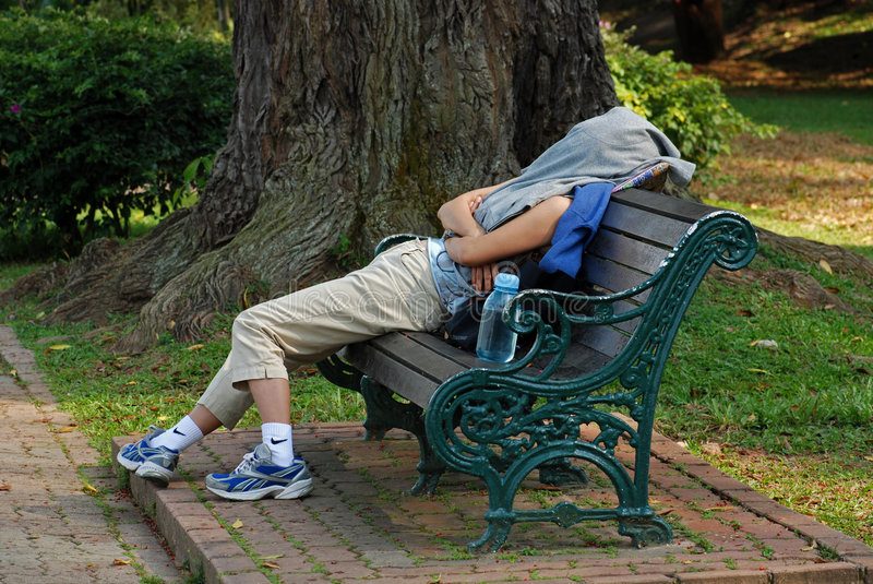 Download Woman Sleep In The Park Stock Photos - Image: 3379093