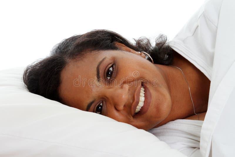 Download Woman Sleeping stock image. Image of pillow, sheet, asleep - 14177935