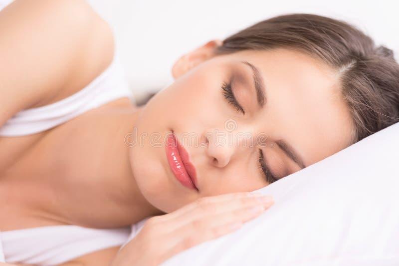 Woman sleeping. stock photo