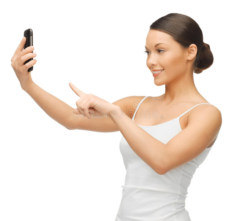 Download Woman with smartphone stock image. Image of communication - 31892943
