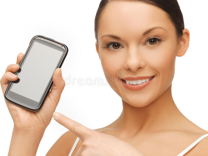 Download Woman with smartphone stock photo. Image of friendly - 31893166