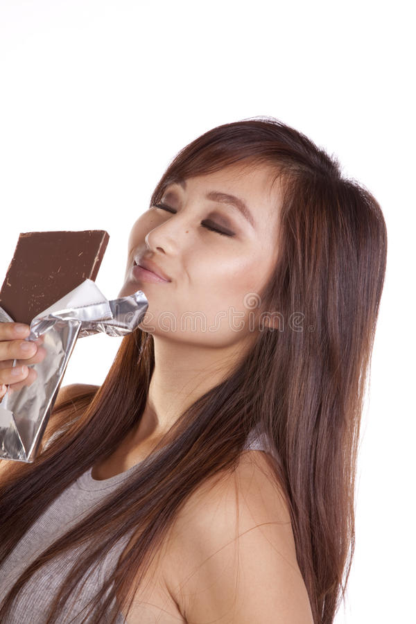 Download Woman Smelling Chocolate Stock Photography - Image: 16405782