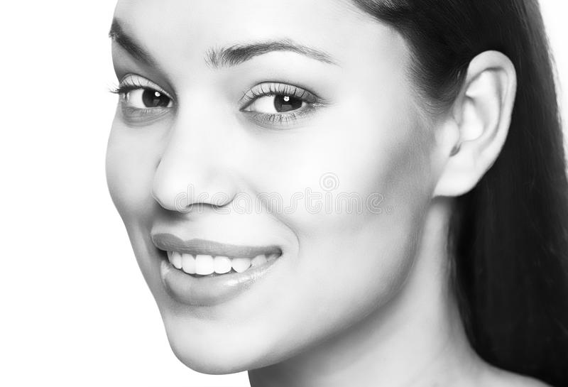 Woman smile. Teeth whitening. Dental care. royalty free stock image