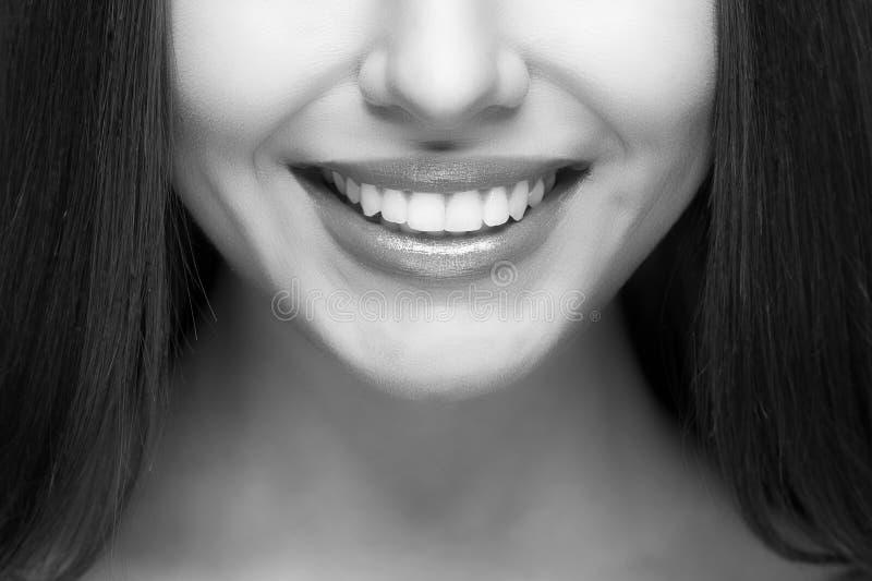 Woman smile. Teeth whitening. Dental care. stock photos