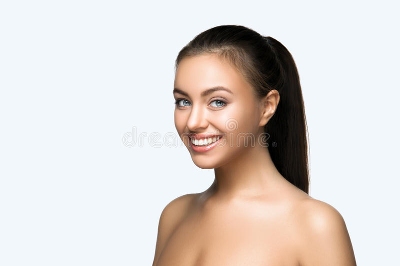 Woman smile. Teeth whitening. Dental care. stock photography