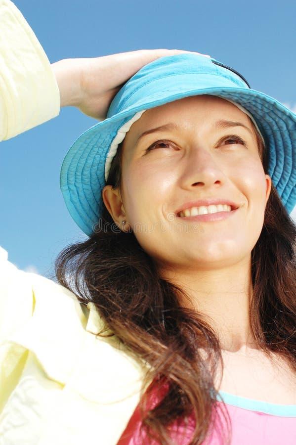 Woman smiling royalty free stock image