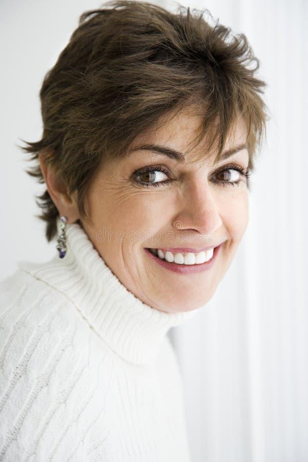 Woman smiling. royalty free stock image