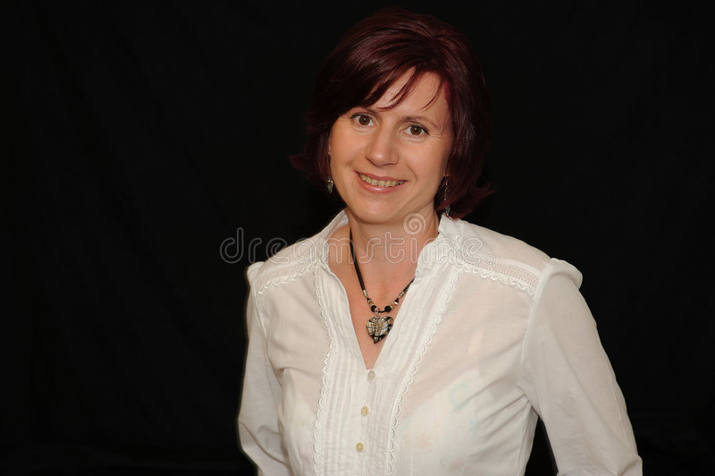 Download Woman smiling stock image. Image of smiling, likable, girl - 5486787