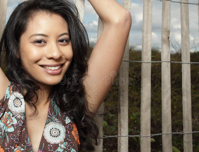 Download Woman smiling stock image. Image of hispanic, meadow, lady - 8568395