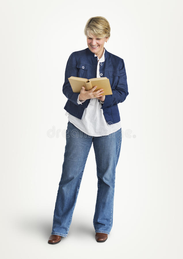 Woman Smiling Cheerful Happiness Enjoyment Senior Adult Concept royalty free stock image