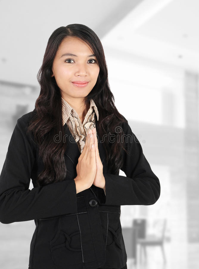 Download Woman Smiling At The Office Stock Image - Image: 23083189