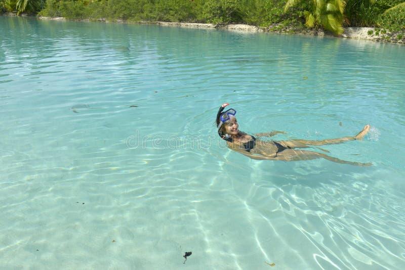 Download Woman snorkeling stock photo. Image of resort, happy - 34181098