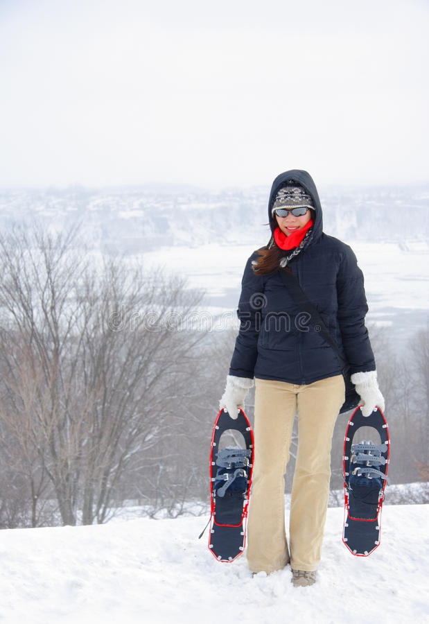 Download Woman with snowshoes stock image. Image of extreme, quebec - 11652627