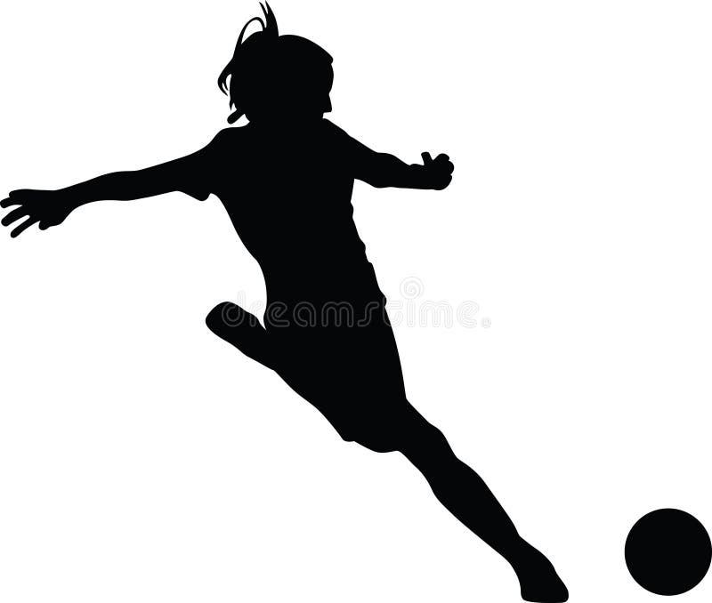 Girl Soccer Silhouette Vector Woman soccer player st...