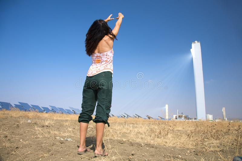 Download Woman And Solar Power Royalty Free Stock Photo - Image: 12394765