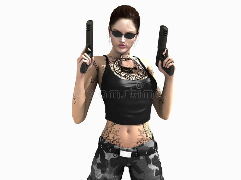 Download Woman soldier stock illustration. Illustration of character - 18000202