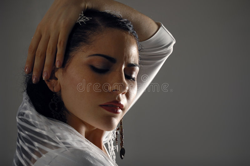 Woman In Sorrow Stock Photo