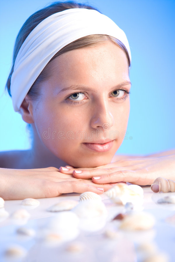 Woman at the spa royalty free stock photos
