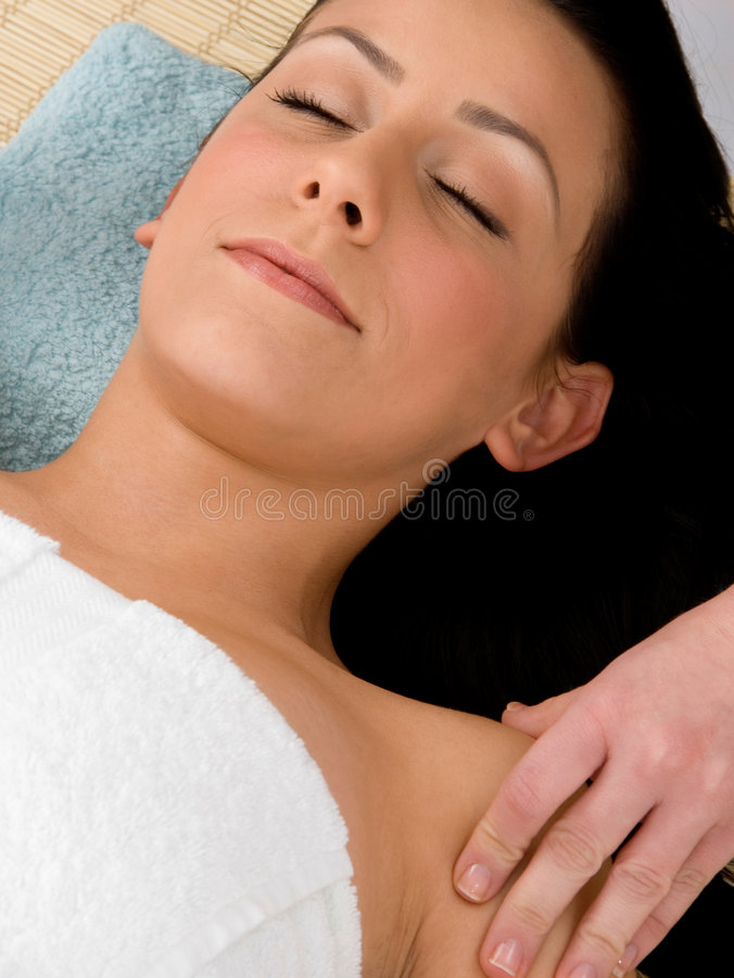 Download WOMAN IN SPA stock image. Image of person, bliss, facial - 8275161