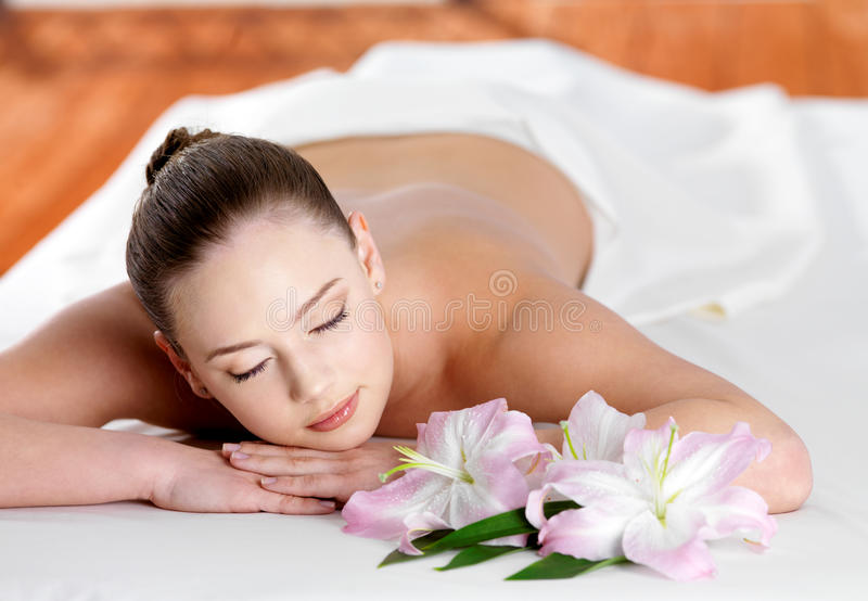 Woman  In Spa Beauty Salon Royalty Free Stock Photography