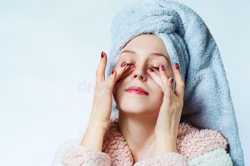Woman spa portret stock foto