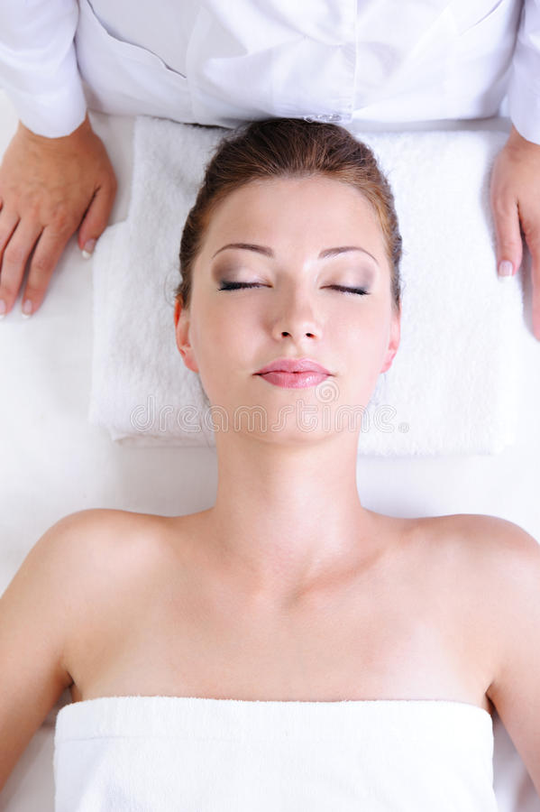 Woman before spa procedures royalty free stock images