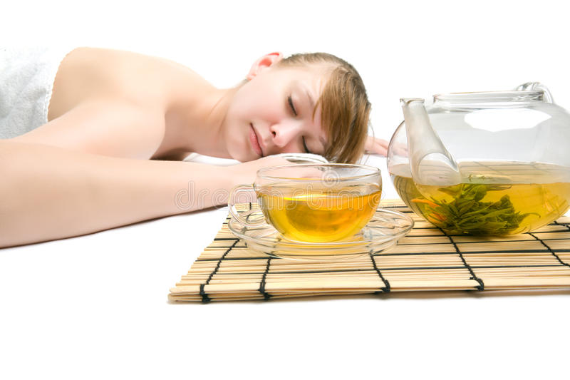 Download Woman at spa procedures stock photo. Image of girl, green - 16322882