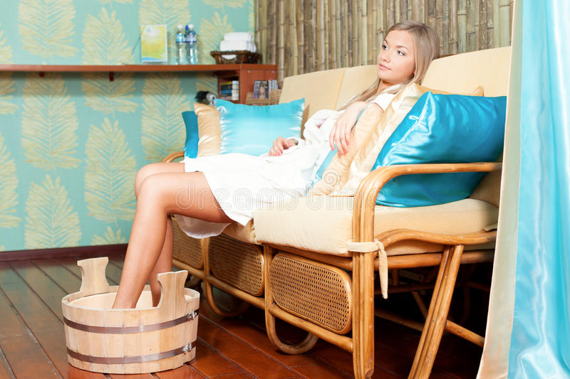 Download Woman in spa salon stock photo. Image of health, face - 26056064
