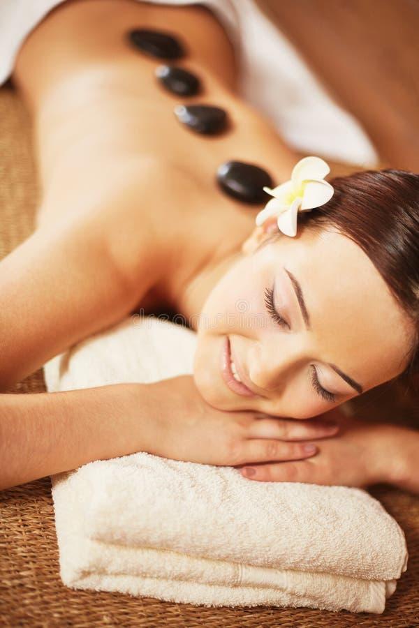 Woman in spa salon royalty free stock photo