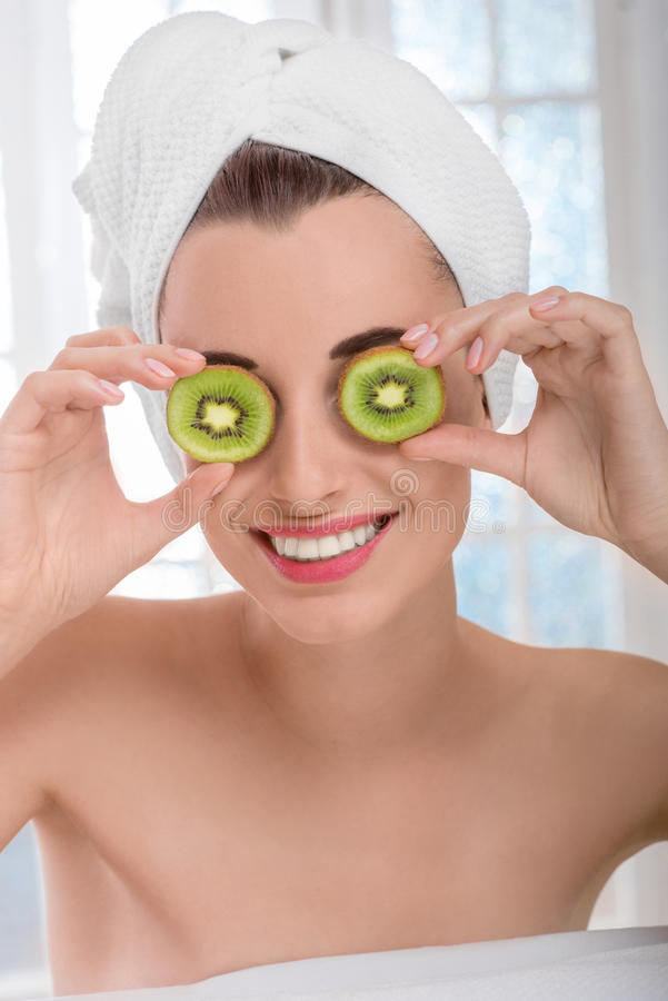 Woman in spa salon royalty free stock image