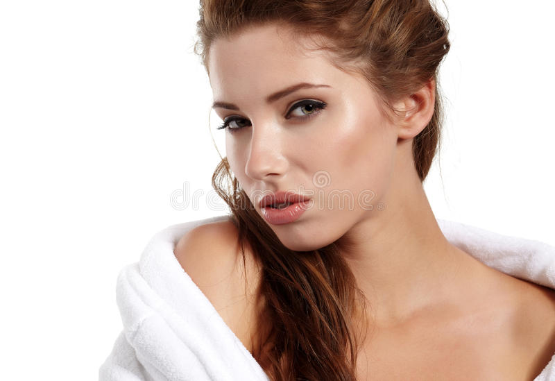 Download Woman before spa treatment stock image. Image of cream - 21267939