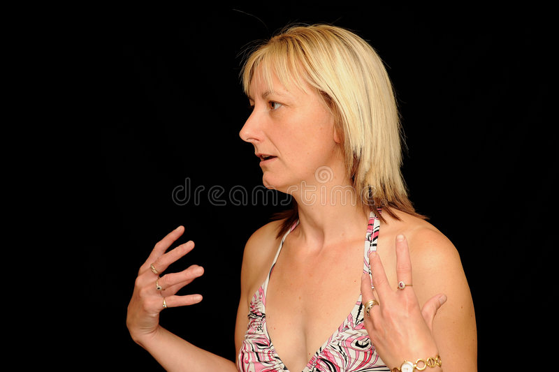 Woman Speaking Royalty Free Stock Photo