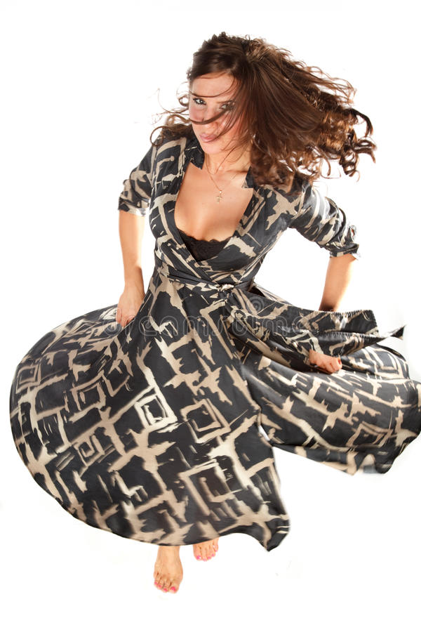 Download Woman spinning stock photo. Image of dress, freedom, blurred - 9800374