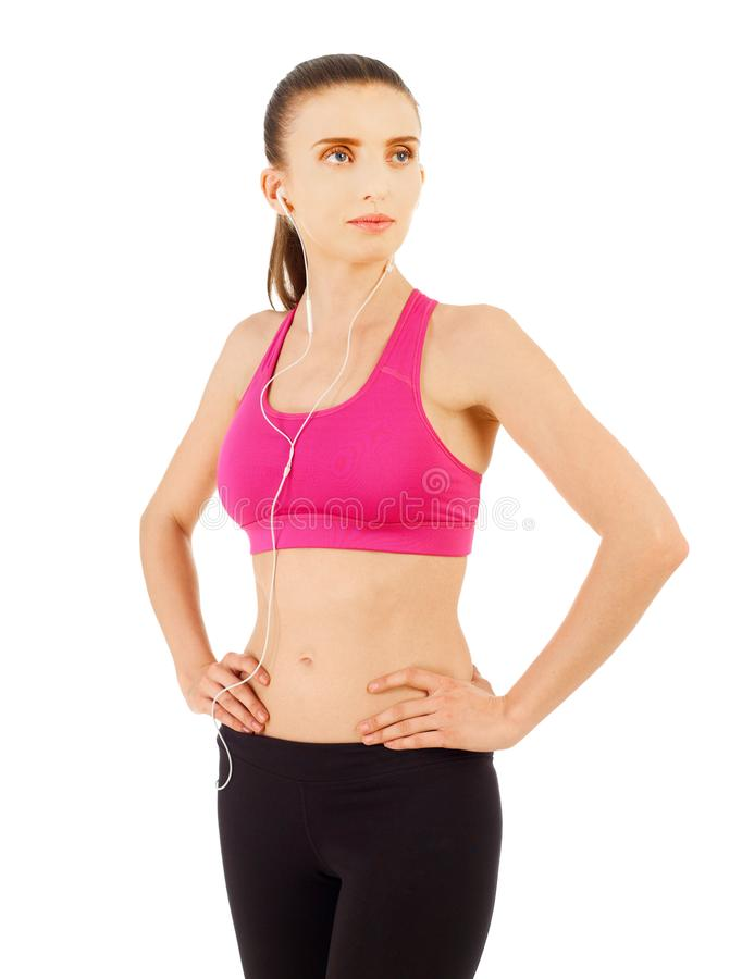 Woman in sport clothes royalty free stock photography