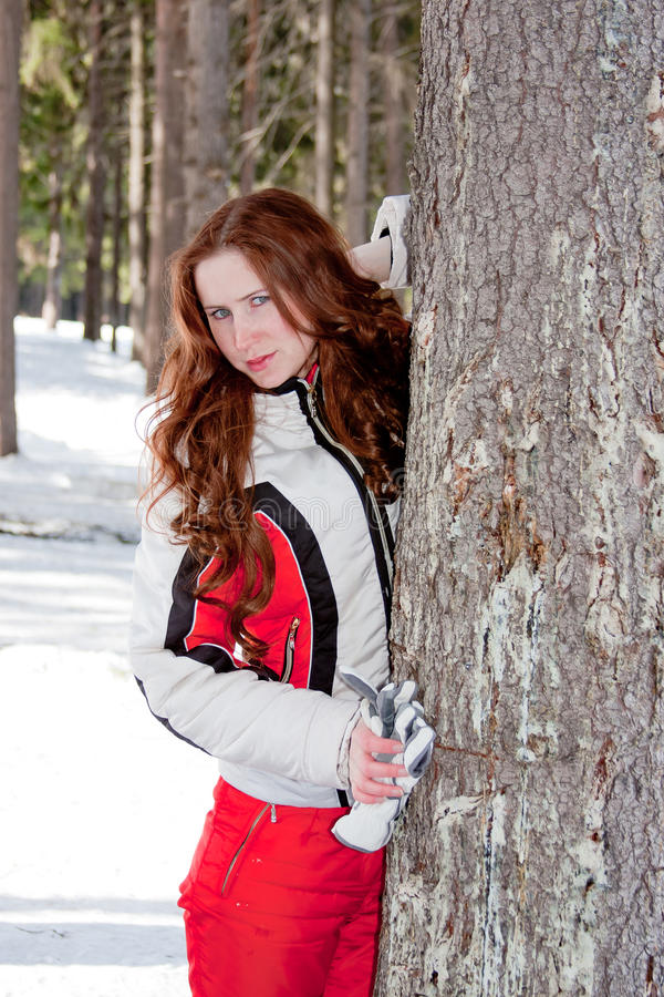 Download Woman In A Sporting Suit Near A Tree In-field Royalty Free Stock Photos - Image: 19520118