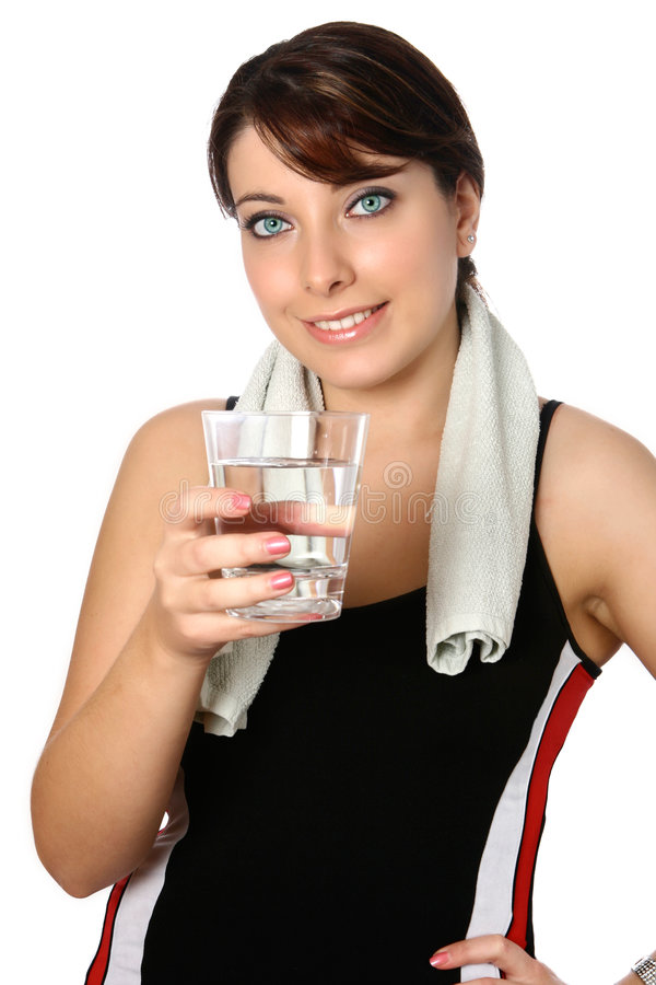 Woman in sports attire stock images
