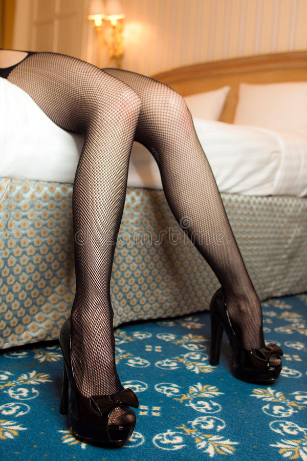 Woman Spreading Her Legs Royalty Free Stock Photography