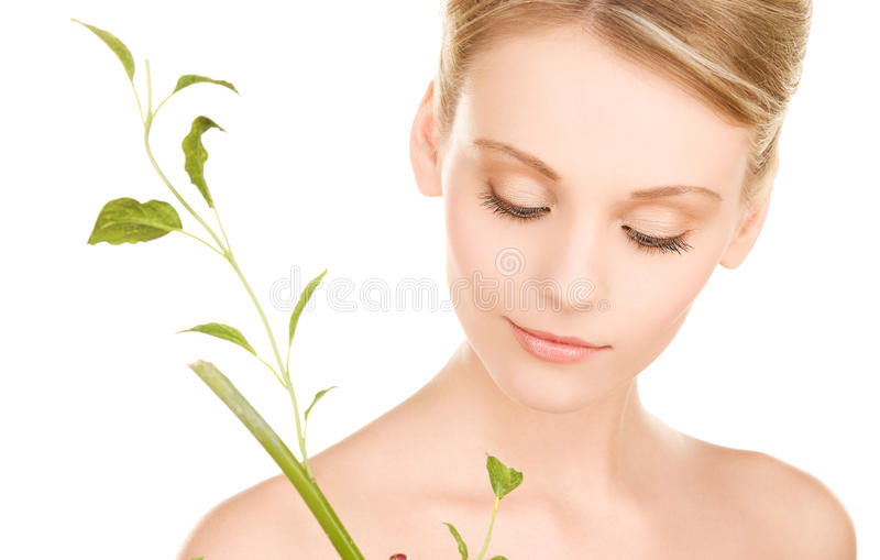 Download Woman with sprout stock image. Image of lovely, natural - 12920219