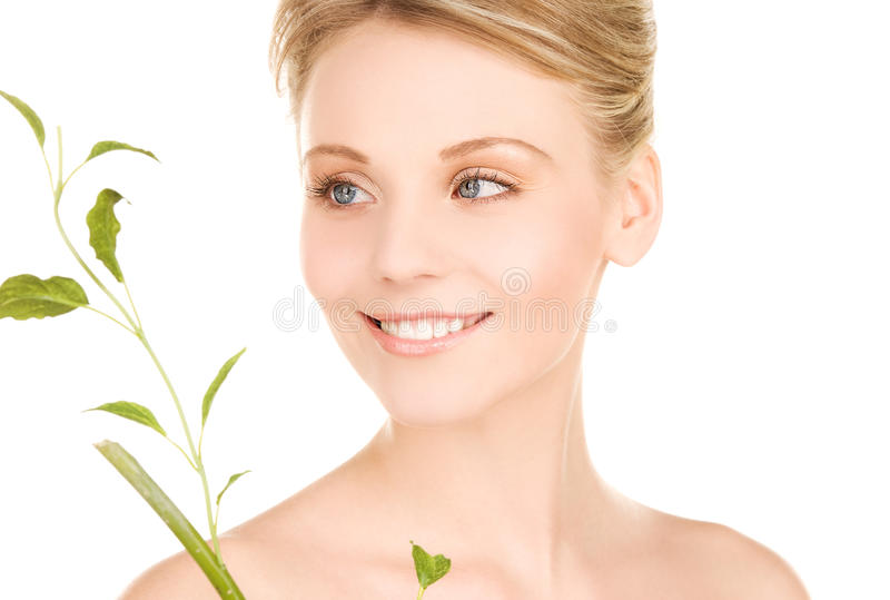 Download Woman with sprout stock image. Image of ecology, living - 13862577