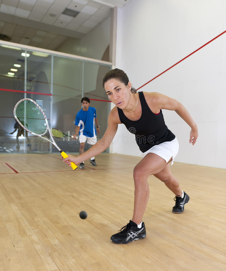 Free Woman Squash Player Royalty Free Stock Photography - 16533117