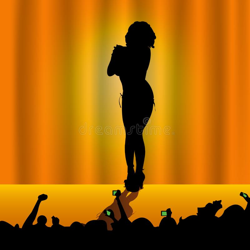 Woman on stage stock images