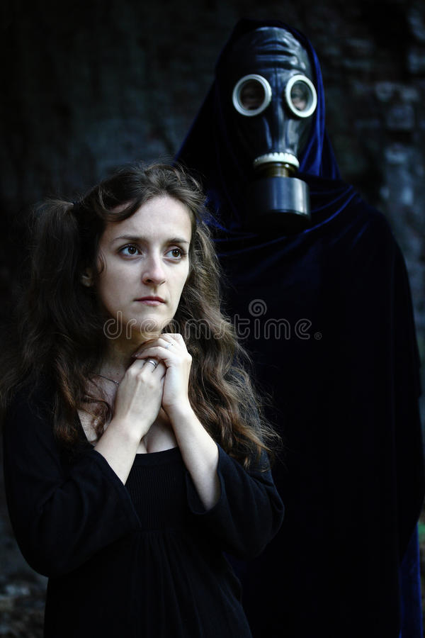 Download Woman and stalker stock photo. Image of face, halloween - 20901962