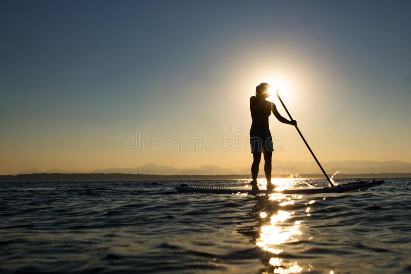 Download Woman On Stand Up Paddle Board Stock Image - Image: 26712873